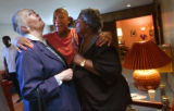 (Denver, Colo., May 5, 2004) Sister June Turner, left, Norma Powell, center, and niece Jean...