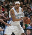 Denver Nuggets forward Kenyon Martin posts up in the first quarter of the Nuggets 116-101 loss to...