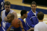 JPM0486 Air Force Academy men's basketball coach Jeff Bzdelik at practice in Clune Arena on the...