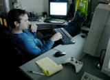 Louisville, CO Feb, 17, 2006 Hermann Petercheck, a programmer for local game designer NetDevil,...