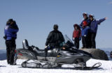 (WINTER PARK, Colo., Feb. 3, 2006) Rocky Mountain Adventure. Snowmobiling tour guide Steven...