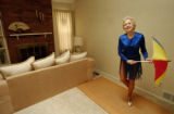 (PARKER, CO., JUNE 17, 2004) Ginny Butler, 79, of Parker, practices the tap dancing routine she...