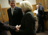 (Denver, Colorado, 2/23/2006) US House Representatives Mark Udall (D-Eldorado Springs) and Marilyn...
