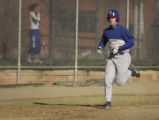 Baseball player Brett Sowers, 18, of Cherry Creek High School on the field at Cherry Creek High in...