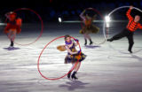 Performers with rings and oversized hula-hoops opened the Closing Ceremony for the 2006 Winter...