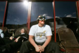 Andrew Lanius (cq), relaxes at Copper Mountain Resort, Colo., while on spring break from Trinity...