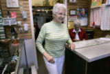 At North Jeffco Park and Recreation Center, in Arvada, Colo., Betty Campbell (cq) 73, works in the...