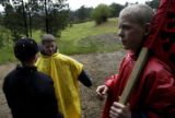 (LOOKOUT MOUNTAIN, Colo., June 18, 2004)  Scouts Kevin King, 10, Blake Trekell, 11, (CQ Trekell)...