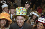 (DENVER, Colo., May 6, 2004) Left front in sunset fir, orange and yellow hat, Alexandra...