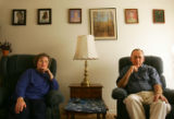 Portrait of Maureen Thyfault (cq), left, and Harold Thyfault  (cq), right, at their home in...