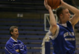 JPM0029 Air Force Academy men's basketball coach Jeff Bzdelik at practice in Clune Arena on the...
