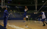 JPM0209 Air Force Academy men's basketball coach Jeff Bzdelik at practice in Clune Arena on the...