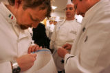 Il Fornaio Executive Chef Massimo Ruffinazzi, left, Executive Sous Chef for the Colorado...