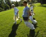 (DENVER, Colo., July 4, 2004)  Brandon Salas (CQ Brandon Salas), 12,  Kara Pellowe (CQ Kara...