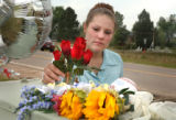 (PARKER, CO., June 20, 2004) An unidentified mourner of the four people killed Friday night near...