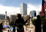 "Denver, Colo., photo taken June 20, 2004-The Denver based Bluegrass band ""The House..."