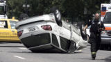 Yellow cab vs car at Speer Blvd. and Stout Street on Tuesday July 25,2006. One person was...