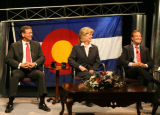 Democratic candidates for Colorado's 7th Congressional District Herb Rubenstein, from left, Peggy...