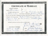 Washington Pigford marriage certificate