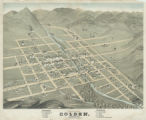 Birds-eye view of Golden, Colorado, 1873