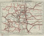 Sketch map of Colorado [showing primary and secondary state highways and Advisory Board Districts]
