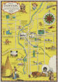 "Map of Denver, to give the ""Visitor within our gates"" a panorama of our historic land..."