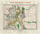 Clason's industrial map of Colorado.