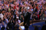 Former President Bill Clinton addresses the Democratic National Convention on Wednesday, August...