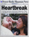 The April 21, 1999 cover of the Rocky Mountain News the day after the Columbine shootings.