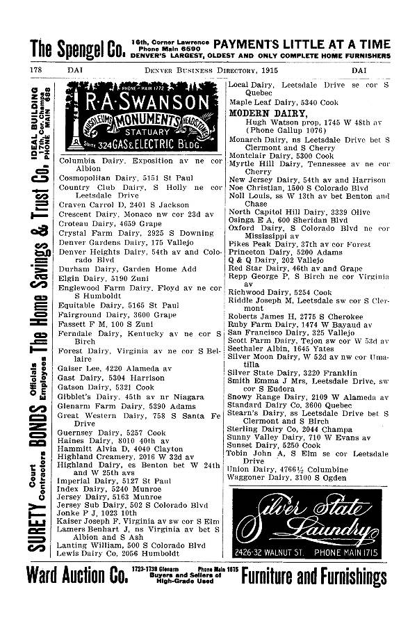 1915 Corbett Ballenger S 43rd Annual Denver City Directory City And Householder Directories Denver Public Library Western History Genealogy Digital Collections