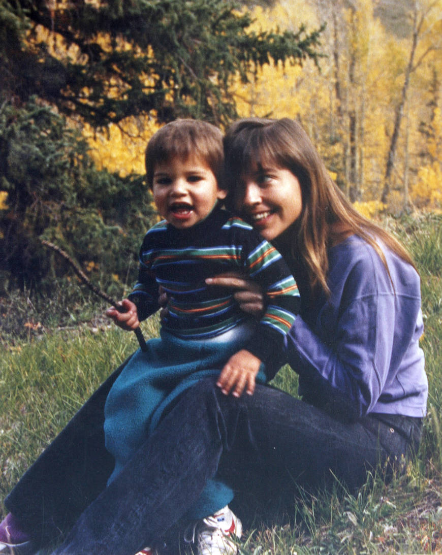 Francys Arsentiev with her son Paul Distefano, approx. 2, in Telluride, Co.  circa 1989. Photo reproduced at Dr. Marina Yarbro's home in Lexington, Ky.,  Wednesday, May 23, 2007. Photo by Matt Goins -